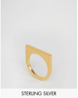 & Julie Sandlau Gold Plated Janu Minimal Ring