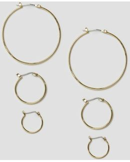 Belinda Hoop Multipack Earrings