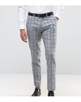 Skinny Suit Pant In Check