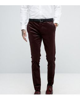 Super Skinny Suit Pant In Cord