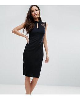 Leah Sleeveless Lace Midi Dress
