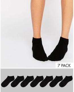 7 Pack Sneaker Socks