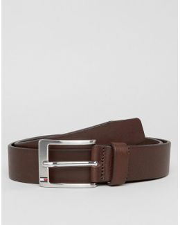 Aly Leather Belt In Brown