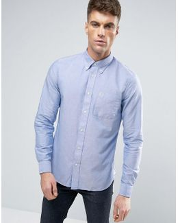 Slim Oxford Shirt Buttondown In Blue