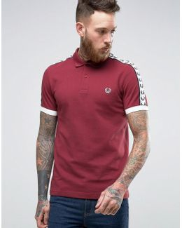 Sports Authentic Polo Shirt In Maroon