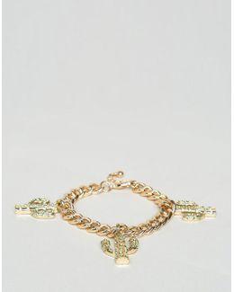 Premium Cactus Charm Bracelet