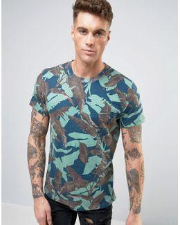 T-joe-mg Palm Camo T-shirt