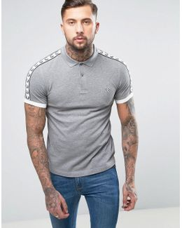 Sports Authentic Slim Fit Polo Shirt In Gray Marl