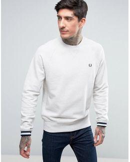 Crew Neck Sweatshirt In White