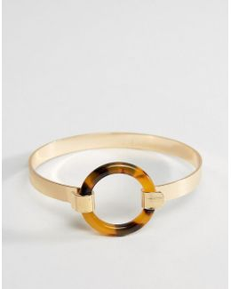 Tortoise Circle Cuff Bracelet