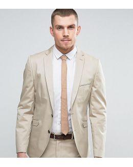Slim Cotton Stretch Suit Jacket