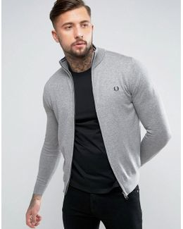 Zipthru Cardigan In Gray