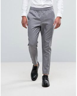 Cropped Tapered Pant With Elasticated Waist