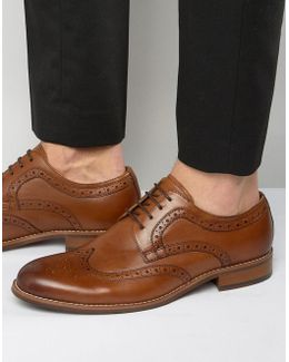 Radcliffe Leather Derby Brogue Shoes