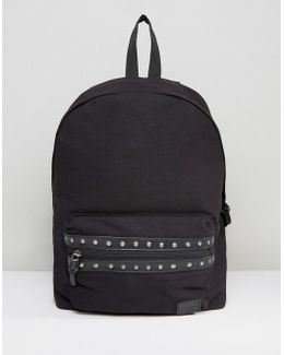 Backpack With Studding Detail To Pocket