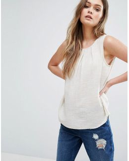 Woven Shell Top