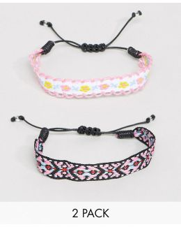 Pack Of 2 Friendship Bracelets