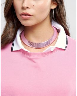 Metallic Coil Choker Necklace