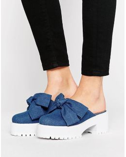 October Chunky Bow Mules