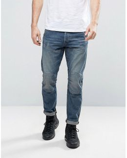 5620 3d Tapered Jeans Medium Aged Blue Wash