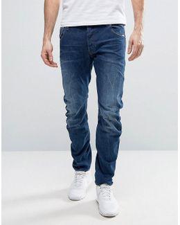 Beraw Arc 3d Slim Jeans Medium Aged Wash
