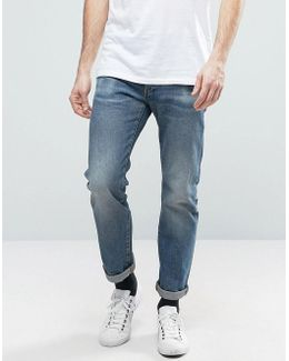 Revend Straight Jeans Medium Aged Light Wash
