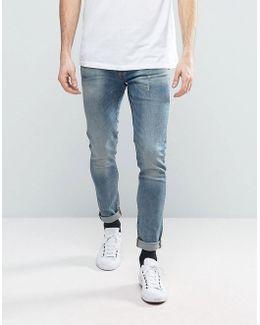Revend Super Slim Jeans Gray Medium Aged Wash