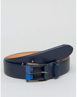 Belt In Leather With Buckle Detail