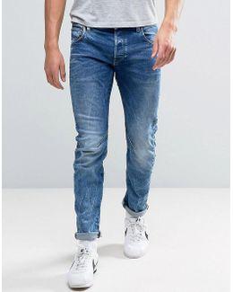 Arc 3d Slim Jeans Medium Aged Wash
