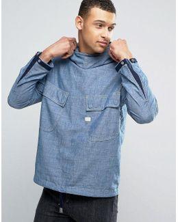 Chambray Hooded Jacket