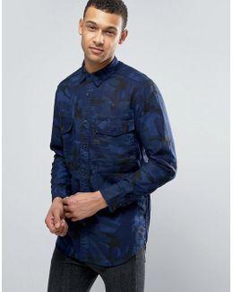Type C Long Camo Cotton Shirt