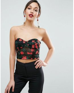 Floral Embroidered Lace Bralette