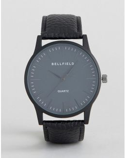 Black Watch With Round Black Dial