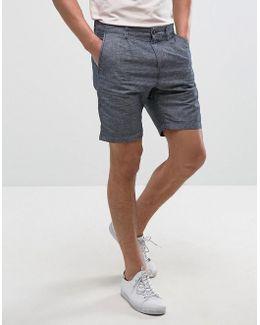 Premium Skinny Tailored Linen Shorts