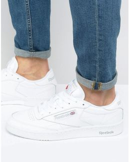 Club C Leather Trainers In White Ar0455