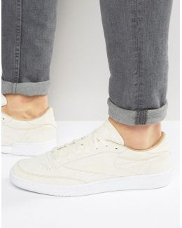 Club C 85 Lst Suede Trainers In White Bd1898
