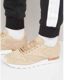 Classic Leather Lst Suede Trainers In Beige Bd1900