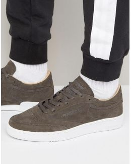 Club C 85 Lst Suede Trainers In Grey Bd1899