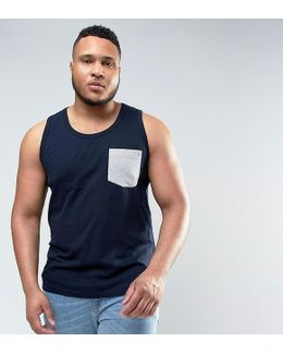 Plus Tank With Contrast Pocket