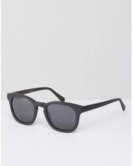 Suko Square Sunglasses In Matte Black