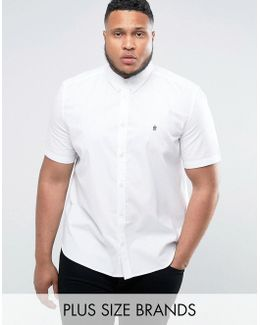 Plus Oxford Shirt With Short Sleeves