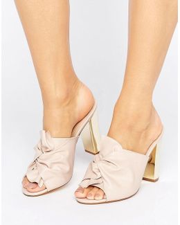 Spice Knot Heeled Mules