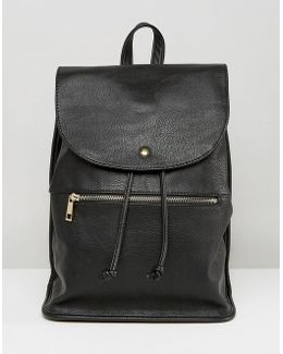 Soft Backpack With Zip Detail