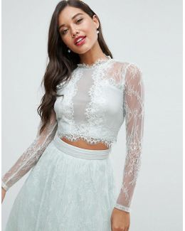 Bridesmaid Lace Insert Top