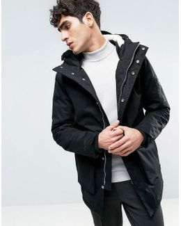Fleece Lined Parka With Fish Tail