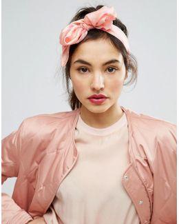 Flamingo Print Headscarf