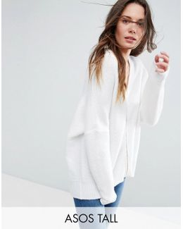 Cocoon Cardigan With Zip