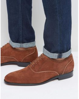 Gilbert Suede Oxford Brogue Shoes