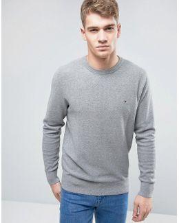 Pique Crew Sweater Small Logo