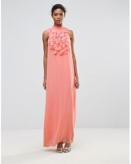Maxi Dress With Ruffle Detail
